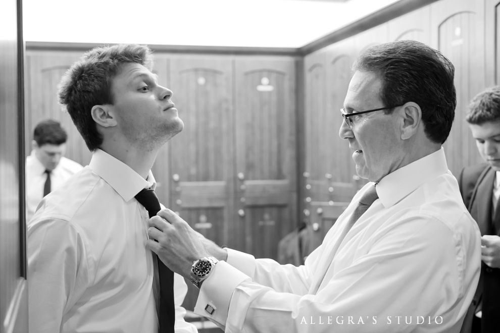 groom gets his son ready