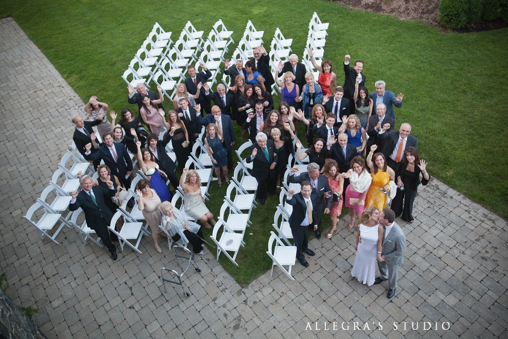 group photograph of all wedding guests