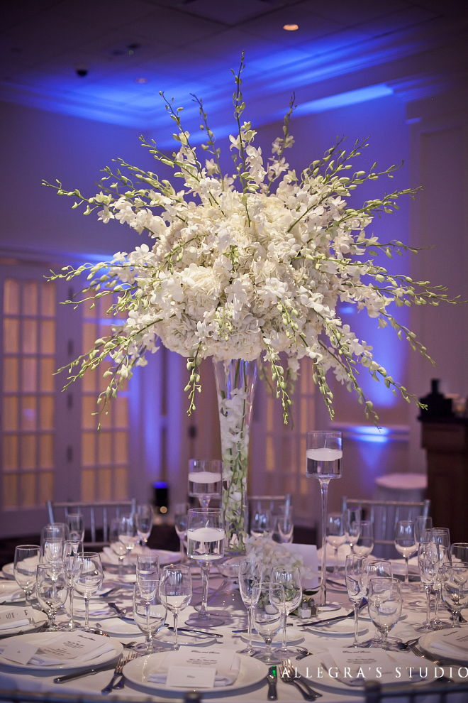 all white room decor wedding