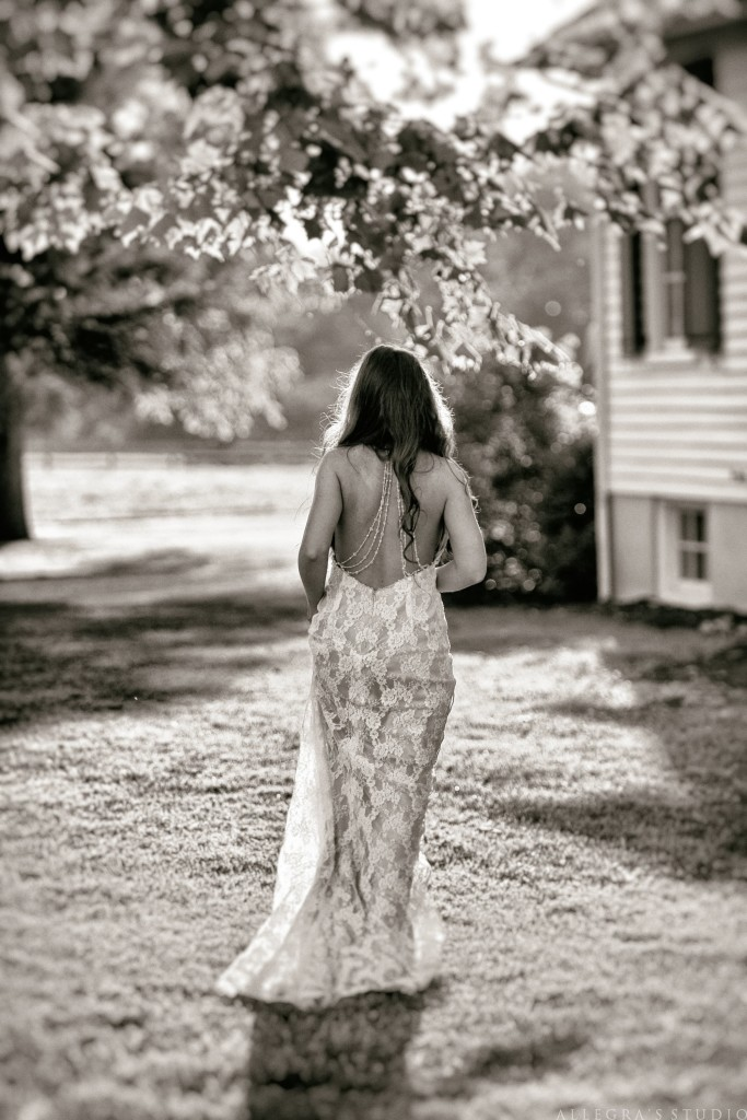 lace dress with open back bride