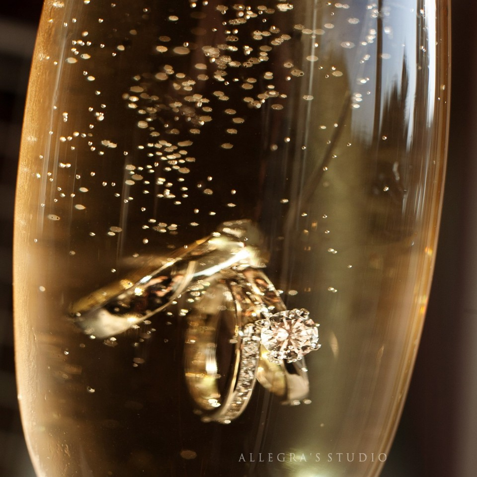 Rings and champagne