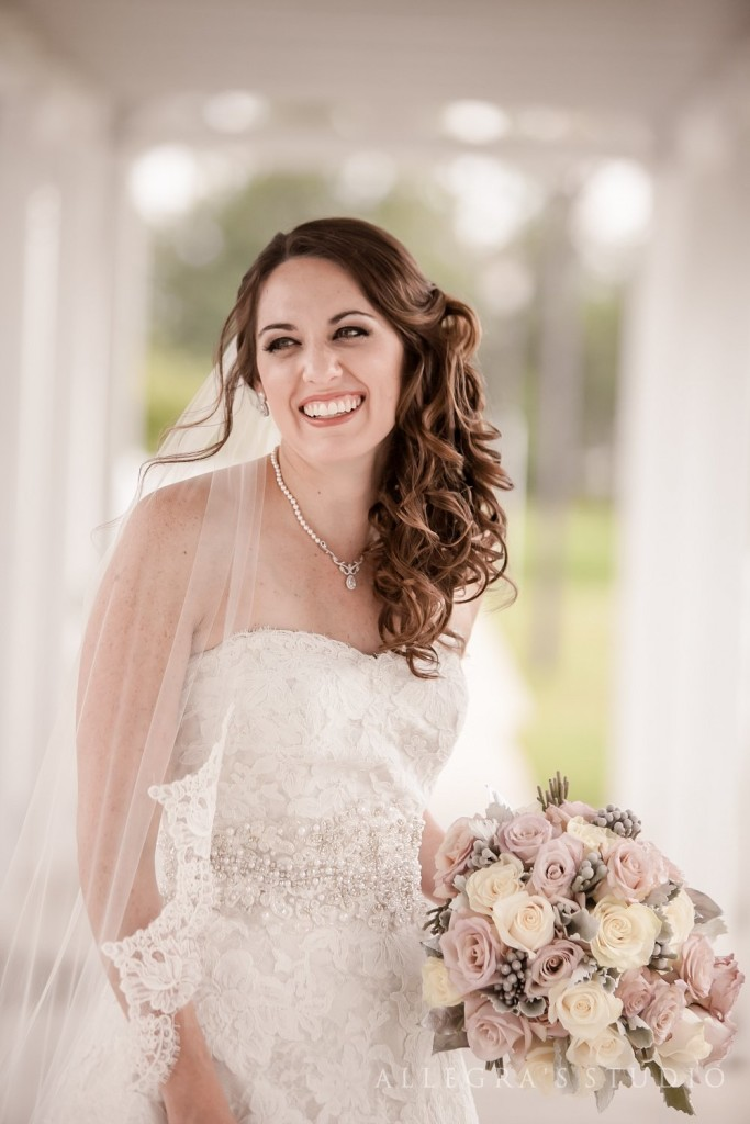 Beautiful bride at Shady Grove United Methodist