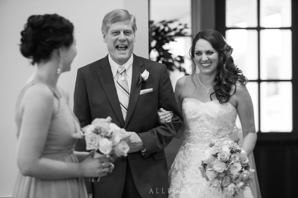 Bride and her dad at Shady Grove United Methodist