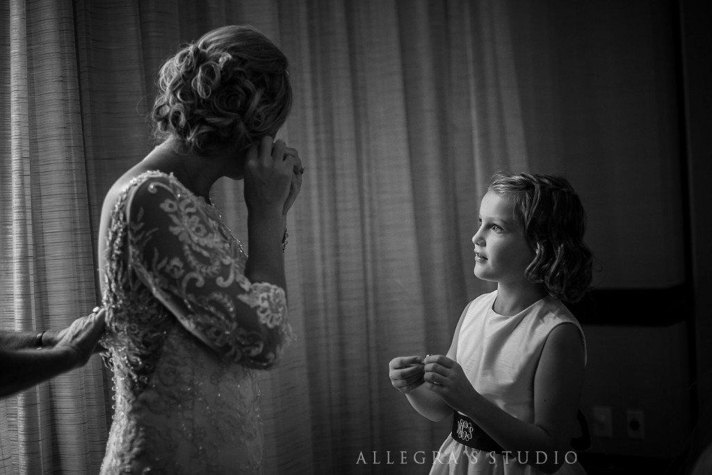Helping the bride prepare