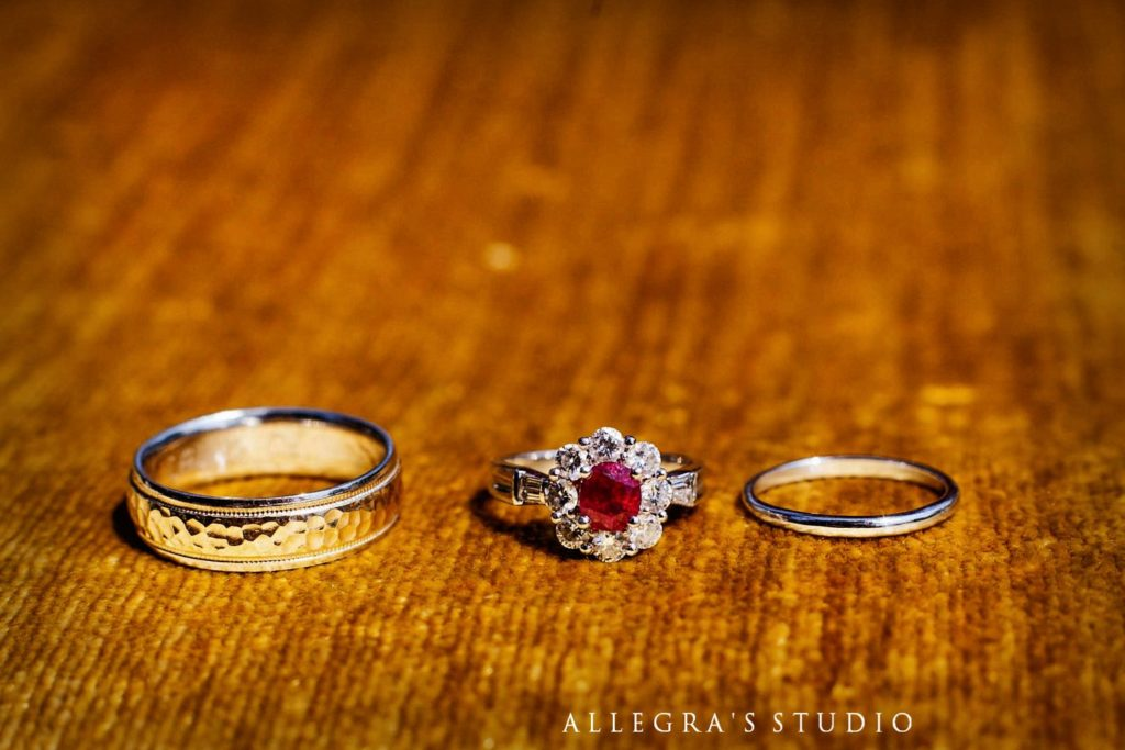 squeee!  Look at that stunning ruby engagement ring!