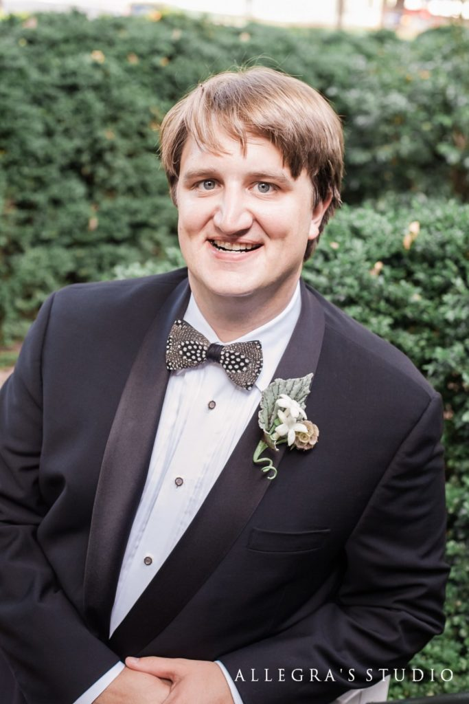 Portrait of the groom at Reveille UMC