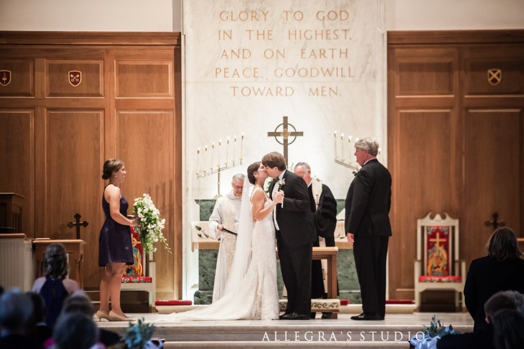 First married kiss at Reveille UMC
