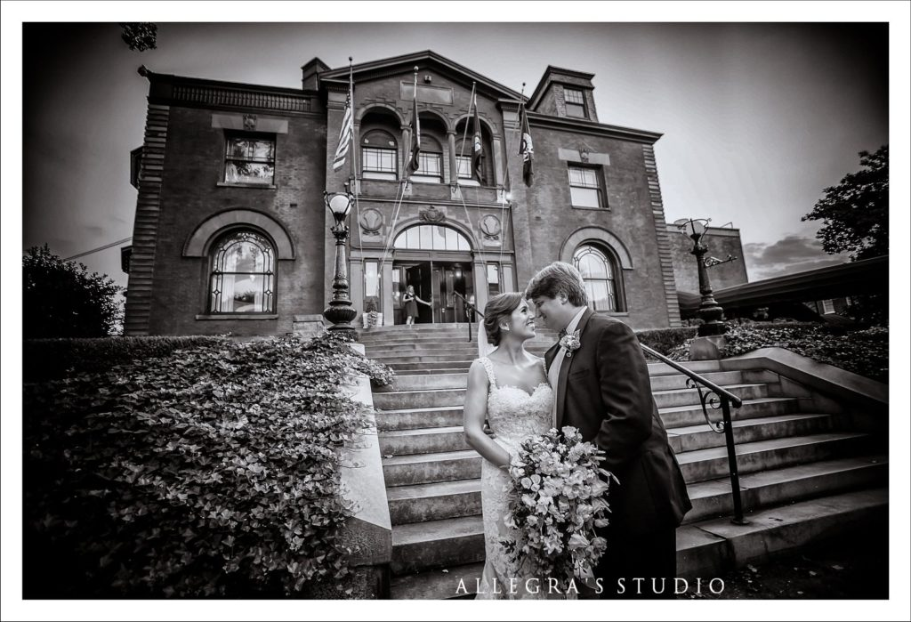 wedding couple at Commonwealth Club
