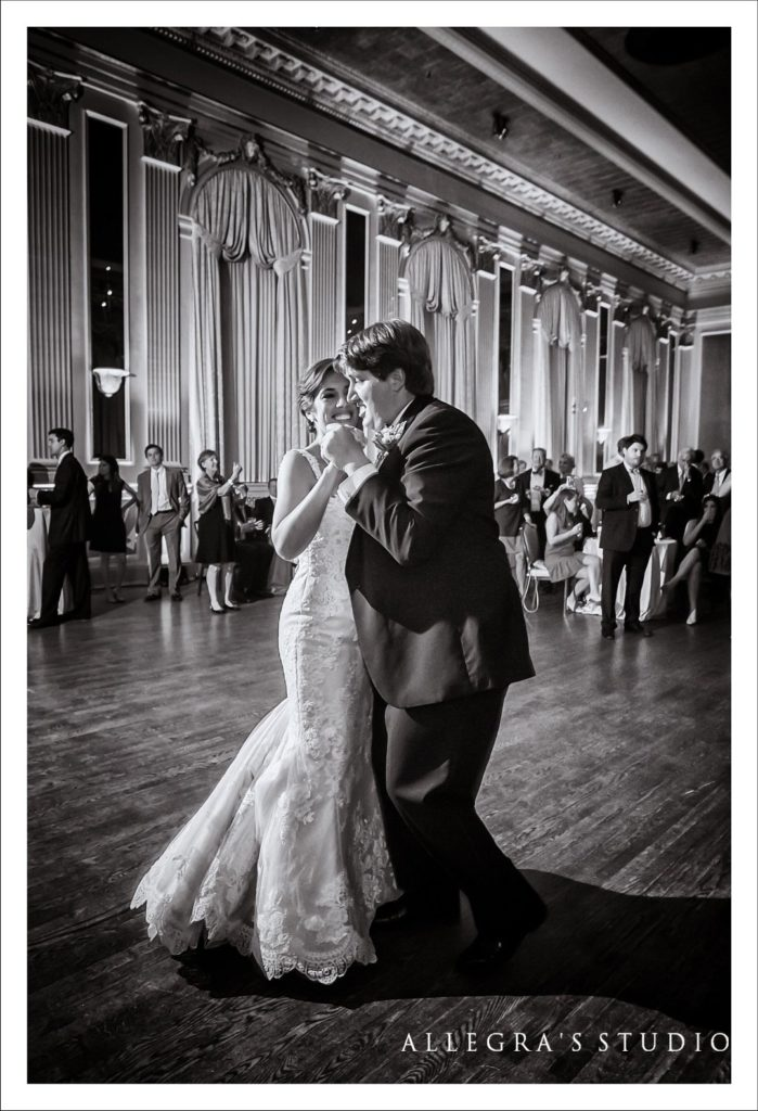 Bride and groom's first dance at Commonwealth Club