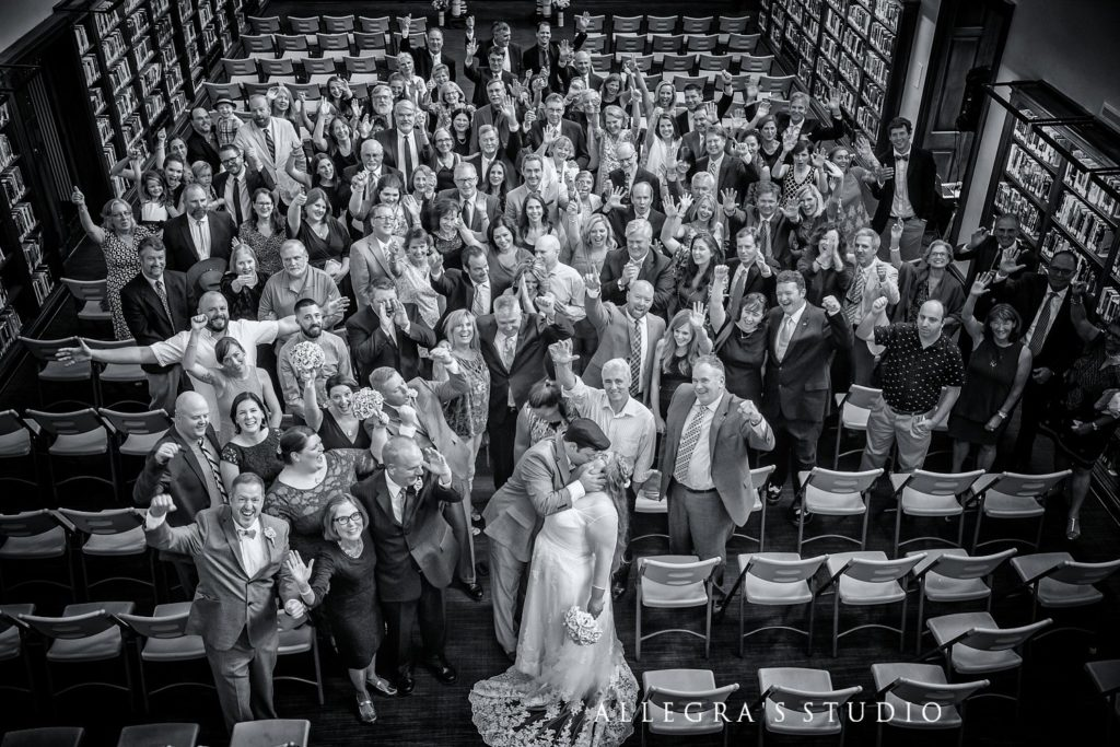 group image of all the wedding guests at a sweet briar wedding