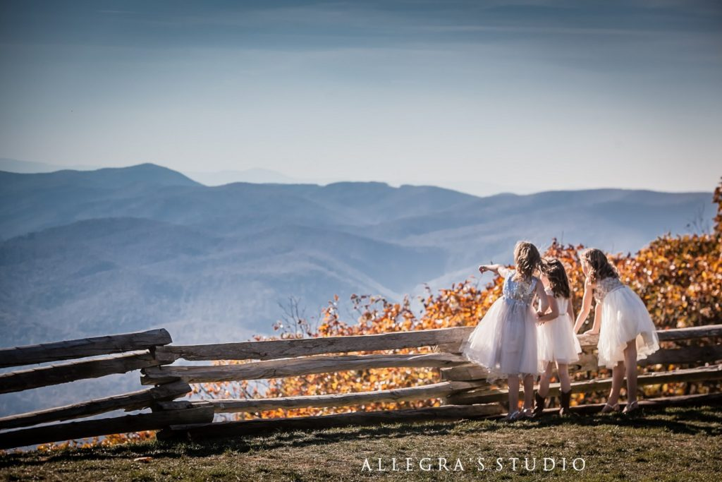 Wintergreen wedding overlook in the fall