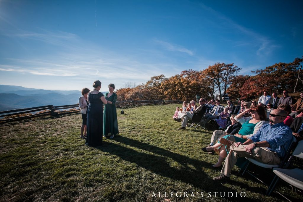 Fall wedding at wintergreen resort
