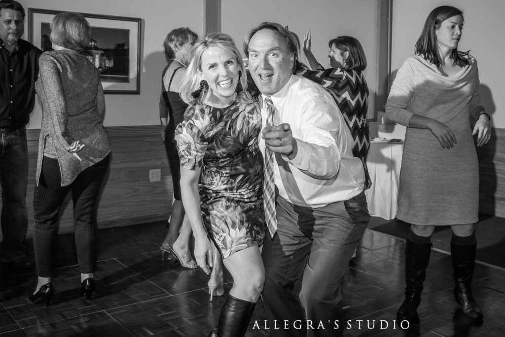 Dancing at Wintergreen wedding reception at Pryors Porch